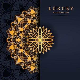 Luxury gold mandala background