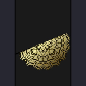 豪華なゴールドの曼荼羅華やかな背景