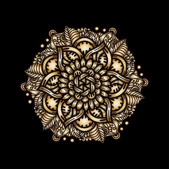 Luxury gold mandala pattern ornament