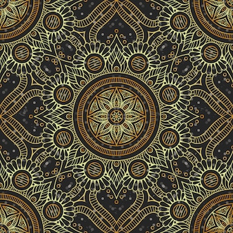 Luxury gold mandala pattern