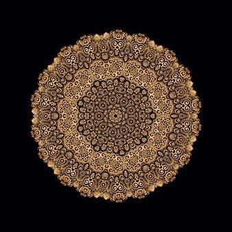 Luxury gold mandala