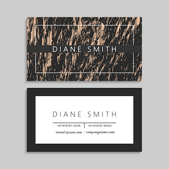 Luxury gold marble business card template