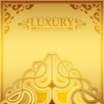 Luxury gold ornament pattern background