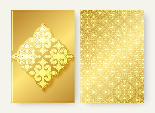 Luxury gold ornament pattern greeting card