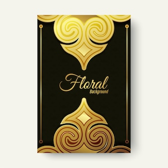 Luxury gold ornament shape cover