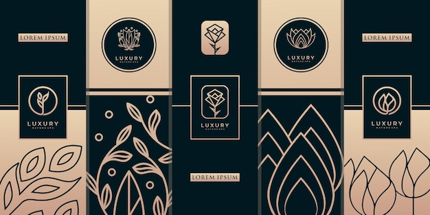 Luxury gold packaging design templates