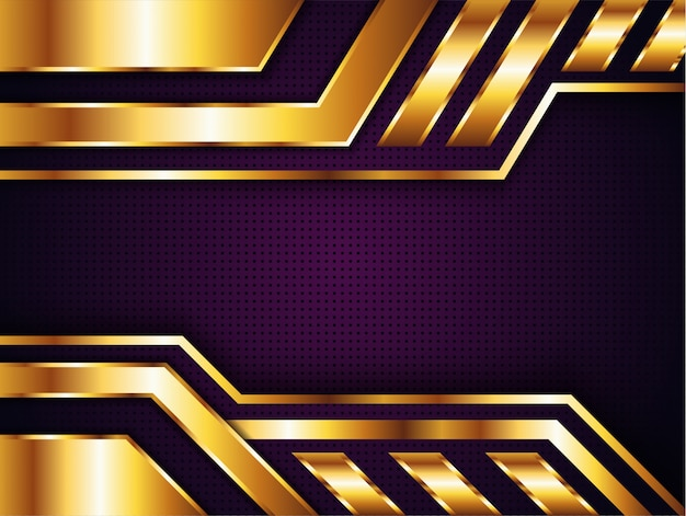 Luxury gold purple background