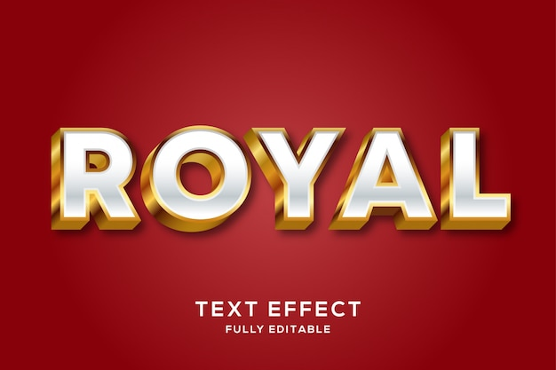 Luxury gold royal editable text effect