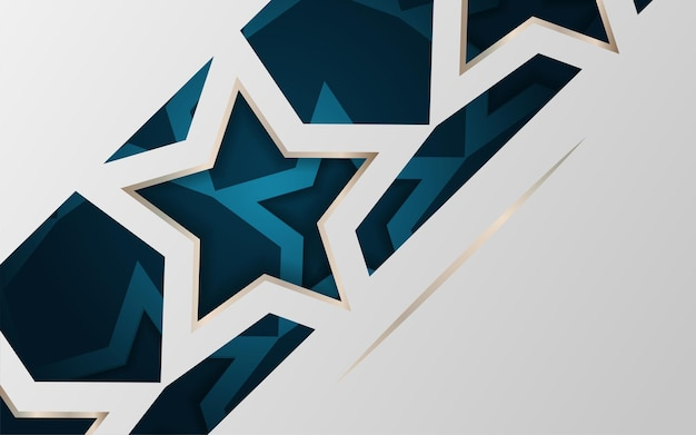 Luxury gold star concept background with modern corporate concept