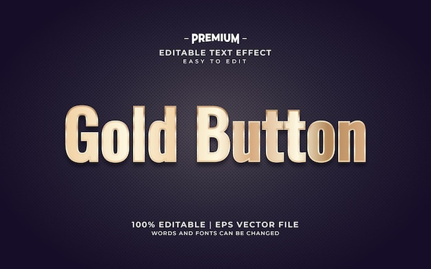 Роскошный текстовый эффект в золотом стиле