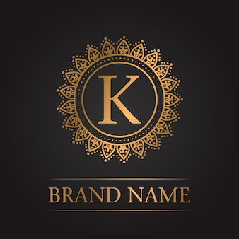 Luxury gold template monogram