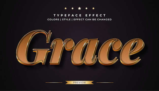 Luxury gold text style effect