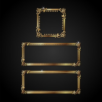 Luxury gold vector frame