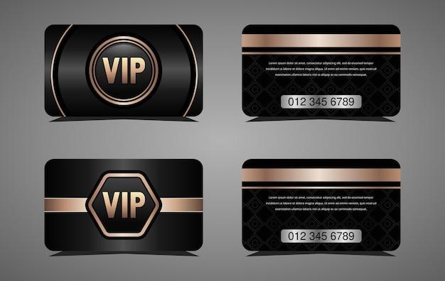 Роскошная золотая vip-карта и элегантный черный фон роскошный дизайн для vip-членов