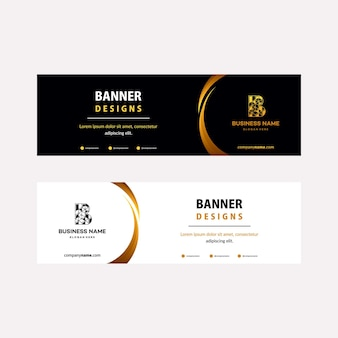 Luxury gold web banners template with diagonal elements for a photo. universal design for advertising business
