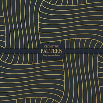 豪華な黄金の抽象的な幾何学的な線のシームレスなパターン背景