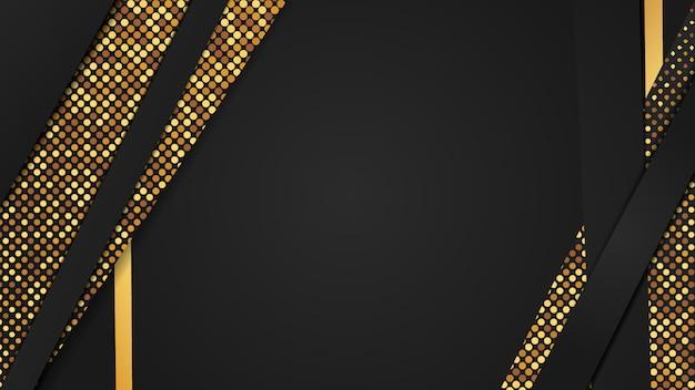 豪華な黄金と黒のキラキラ背景