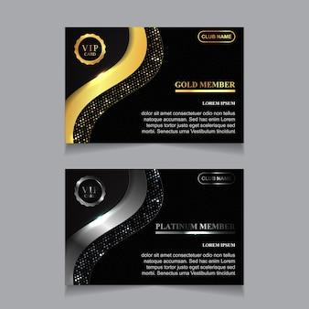 럭셔리 황금과 백금 vip 카드 디자인 템플릿