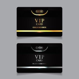 Роскошный золотой и платиновый шаблон дизайна карты vip-члена