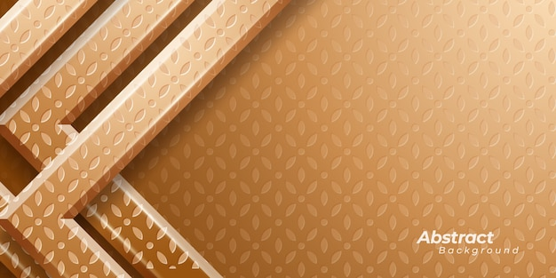 Luxury golden background with abstract pattern.