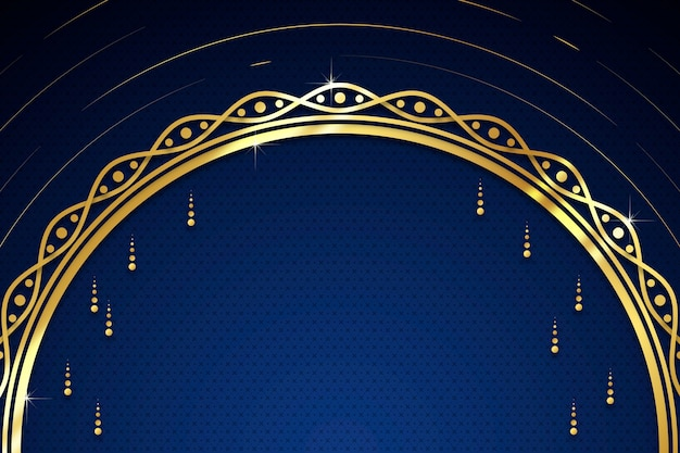 Luxury golden background with drops and copy space