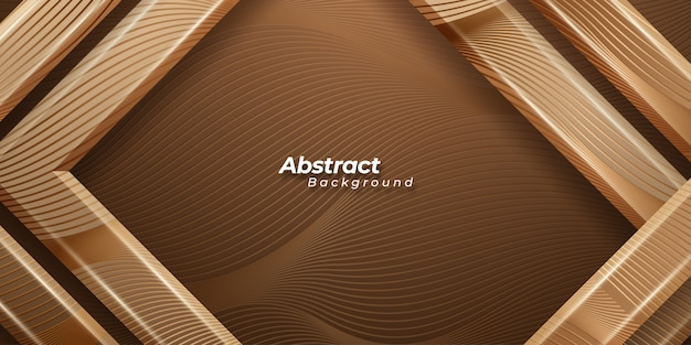 Luxury golden background with lines pattern.