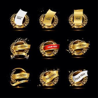 豪華なゴールデンバッジコレクション
