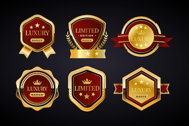 Luxury golden badges collection