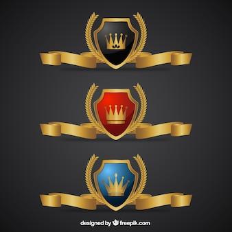 Luxury golden badges