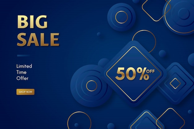 Luxury golden big sale background