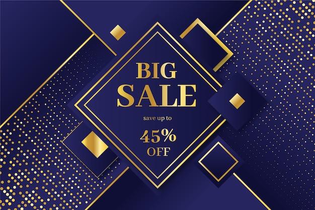 Luxury golden big sale background