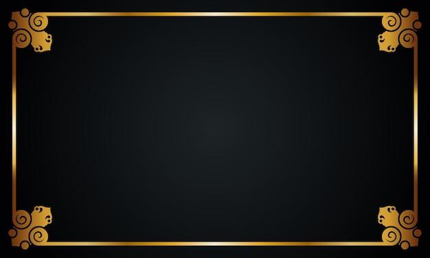 럭셔리 황금 테두리 배경입니다. 벡터 일러스트 레이 션. 추상적인 배경입니다.