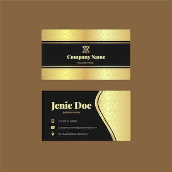 Luxury golden business card template