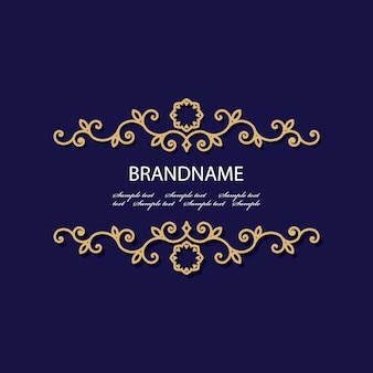 Luxury golden card template