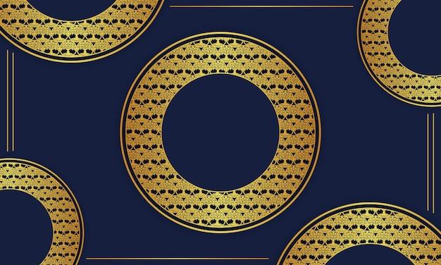 豪華な金色の円の背景。ベクトルイラスト。