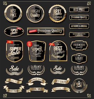 Luxury golden design elements