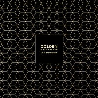 Luxury golden geometric pattern, abstract pattern background