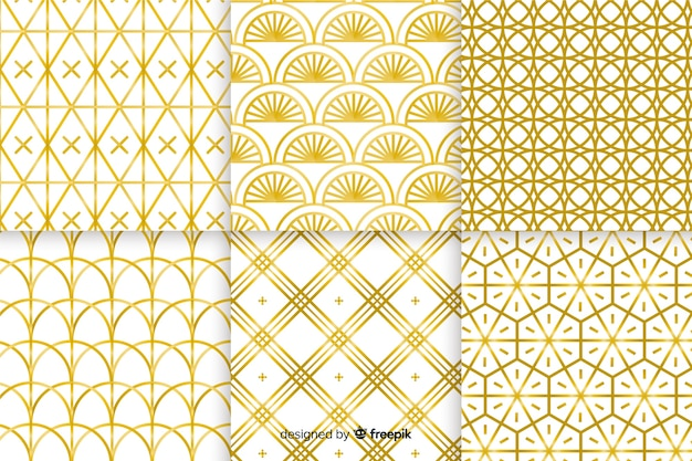 Luxury golden geometrical pattern collection