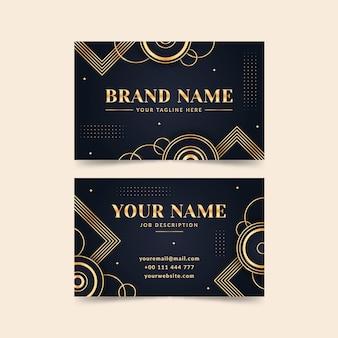 Luxury golden gradientbusiness cards template