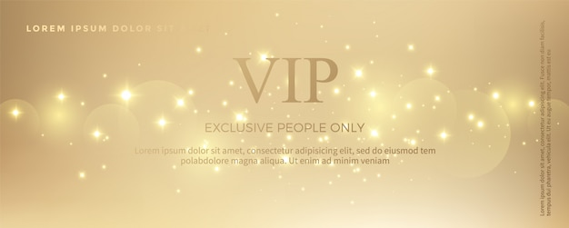 Luxury golden invitation card template