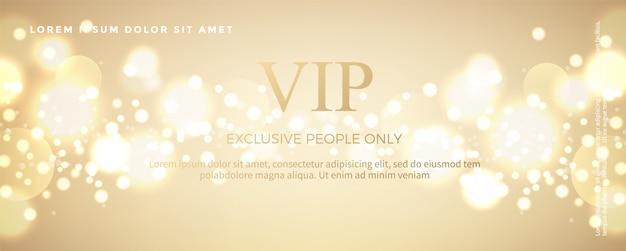 Luxury golden invitation card template