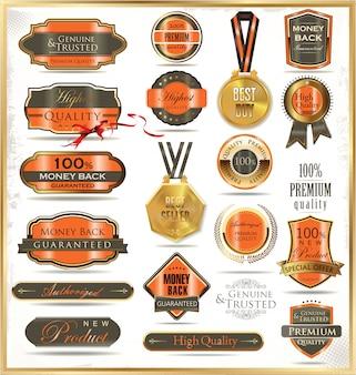 Luxury golden labels