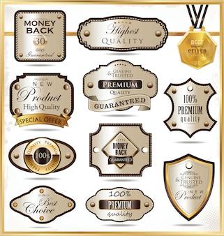 Роскошные золотые этикетки