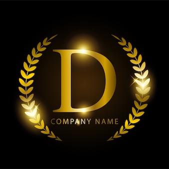 ブランドアイデンティティのための豪華な金色の文字d