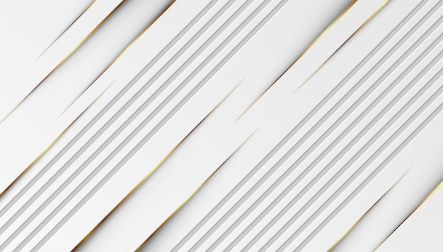 Luxury golden light lines with white gray background