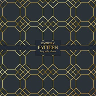럭셔리 골든 라인 기하학적 추상 패턴 배경
