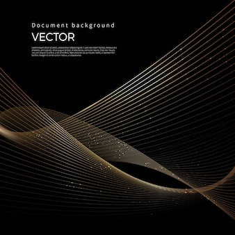 Luxury golden lines, abstract line background