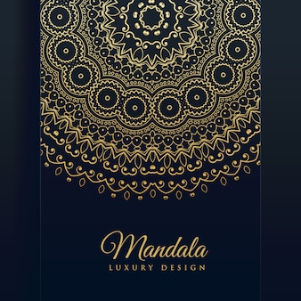 Luxury golden mandala art vector background