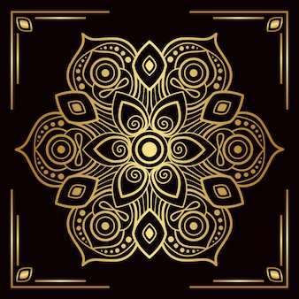 Luxury golden mandala background