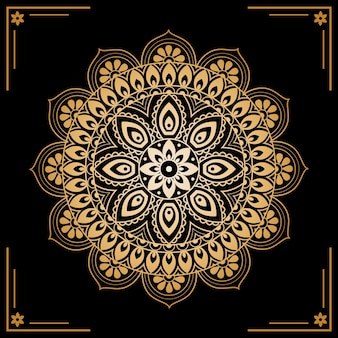 Luxury golden mandala screensaver